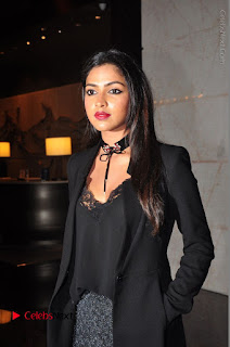 Actress Amala Paul Stills in Black Dress at South Scope Lifestyle Awards 2016 Red Carpet  0032.JPG