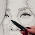 Arte Desenhos Retratos De Papel menina asiática esboçar