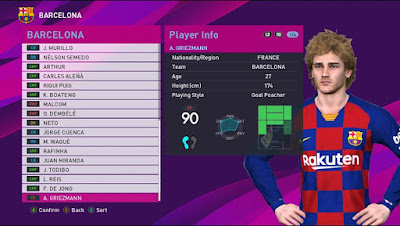 PES 2017 Option File for Tauvic99 Patch Season 2019/2020