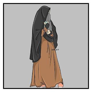 contoh wanita mengenakan cadar