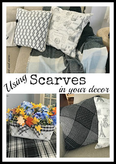 Vintage, Paint and more... how to use scarves when decorating in your home
