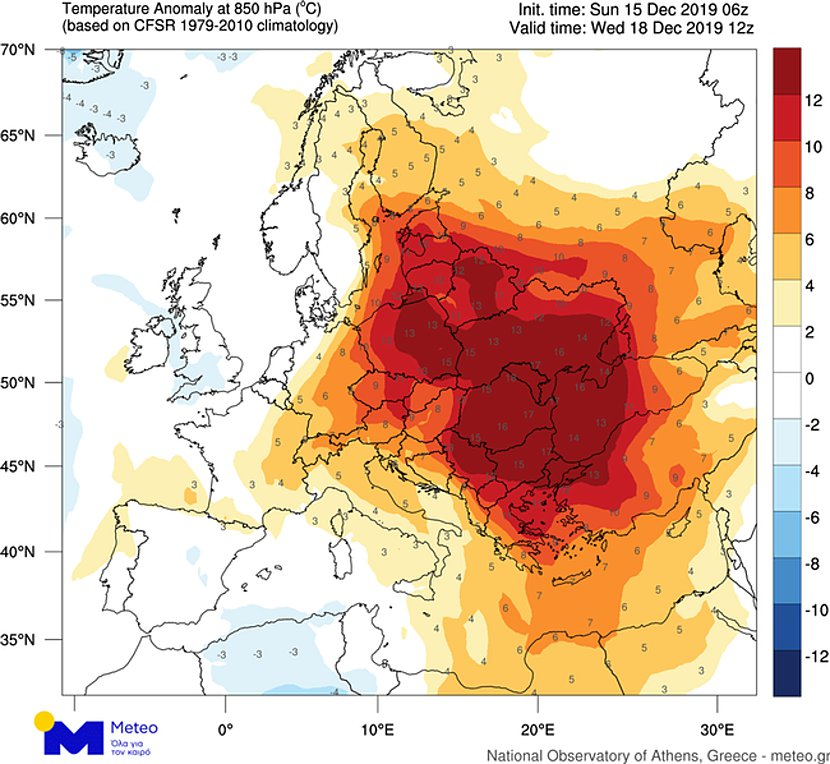 Θερμή εισβολή στην Ευρώπη - Θερμοκρασίες πάνω από 20 βαθμούς και στην Ελλάδα
