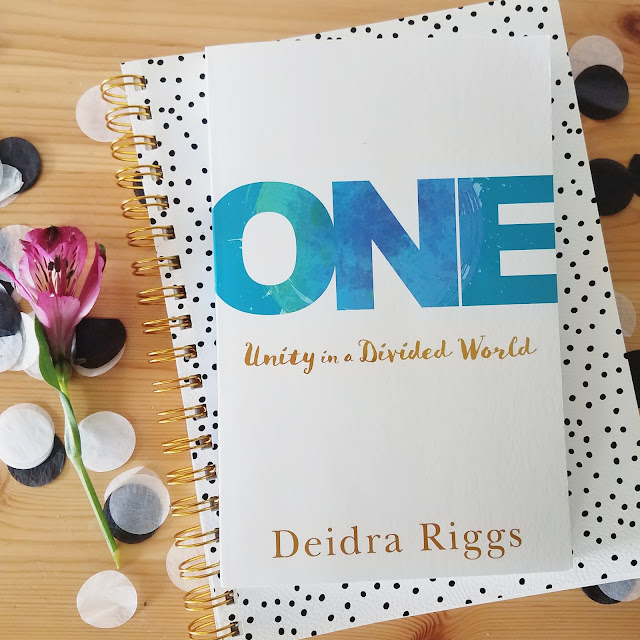 One: Unity in a Divided World by Deidra Riggs is a book for peacemakers by a peacemaker.  It's a timely invitation to join in Jesus' mission of making us one. Read it if you're a natural peacemaker or if you're feeling God calling you into the role of peacemaker in your own life and among your own circle.