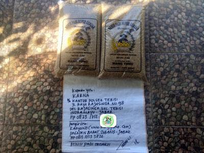 Benih padi yang dibeli KARNA Indramayu, Jabar. (Sebelum packing karung ).