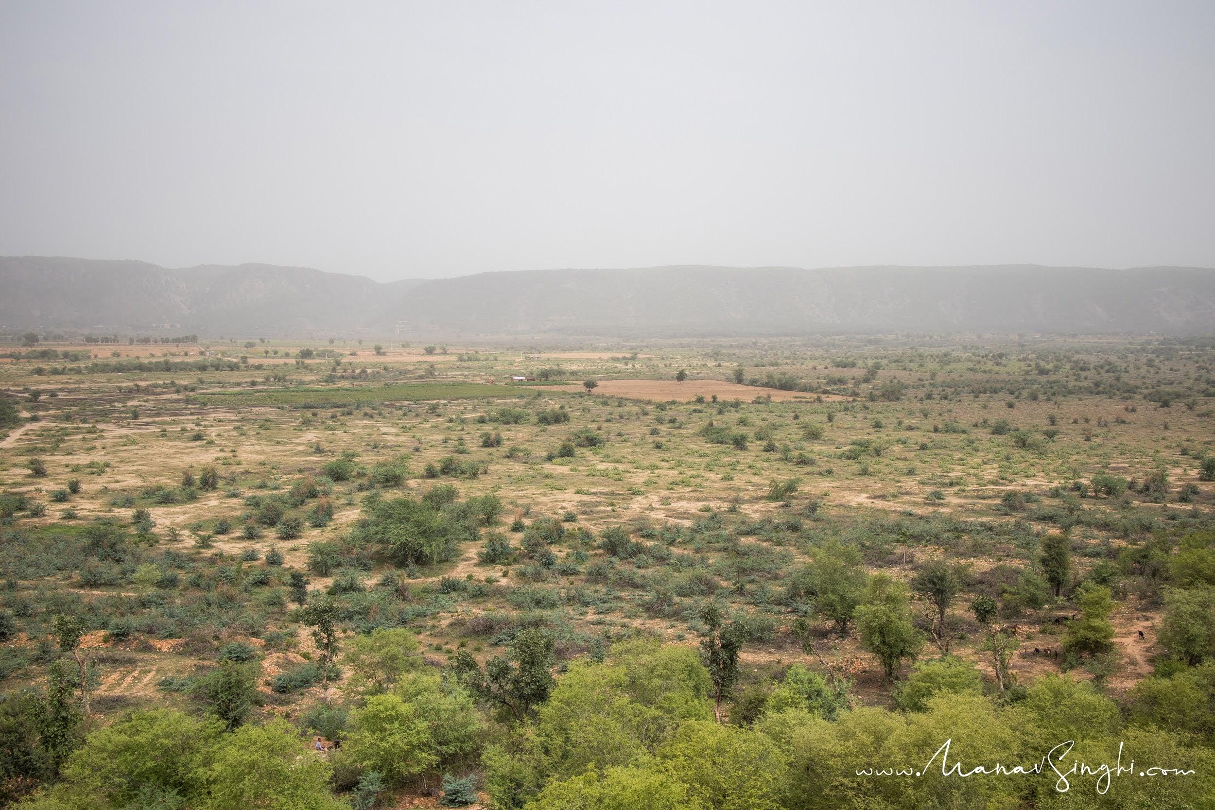 View of Dried Ramgarh Lake from Hawa Audi