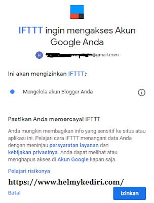 Cara membuat autoblog otomatis dengan IFTT4