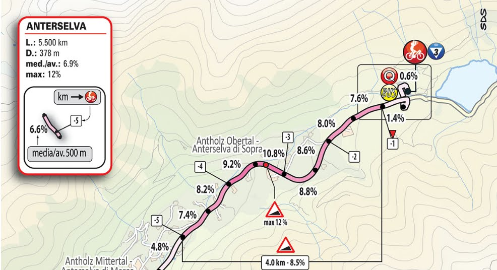 GIRO D'ITALIA 2019 Streaming Commezzadura (Val di Sole)-Anterselva / Antholz: 17° Tappa Oggi 29 maggio in Diretta Rai Play TV