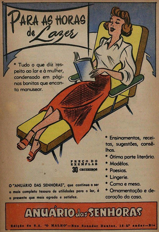 Propaganda promovendo a publicação Anuário das Senhoras no ano de 1956