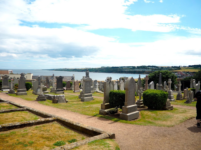 Cathedral graveyard, St Andrews, Fife, Scotland