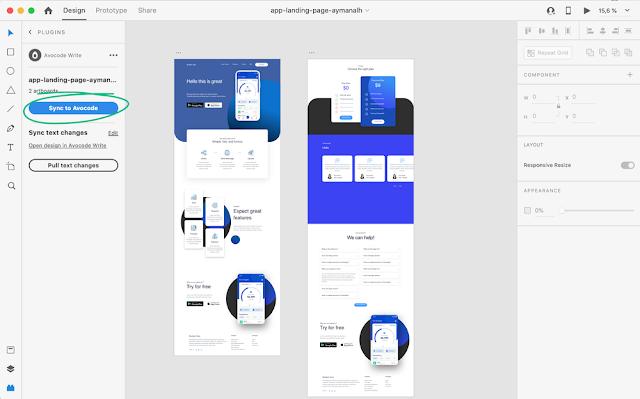 Selanjutnya, aplikasi desktop Avocode akan terbuka sehingga Anda dapat menetapkan desain ke dalam proyek: