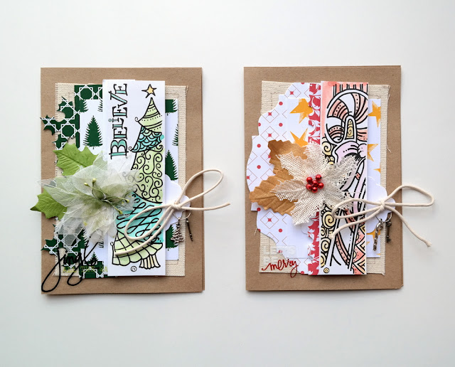 Tattered Tangled Christmas Card Set by Dana Tatar for Canvas Corp Brands