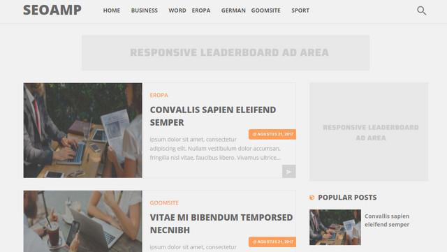 SeoAMP HTML Responsive Blogger Templates
