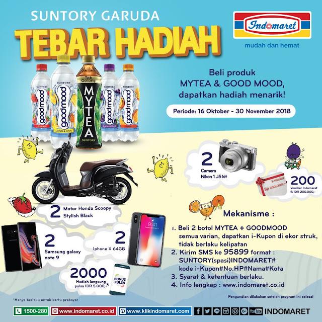 Indomaret - Promo Undian Suntory Garuda Tebar Hadiah (s.d 30 Nov 2018)