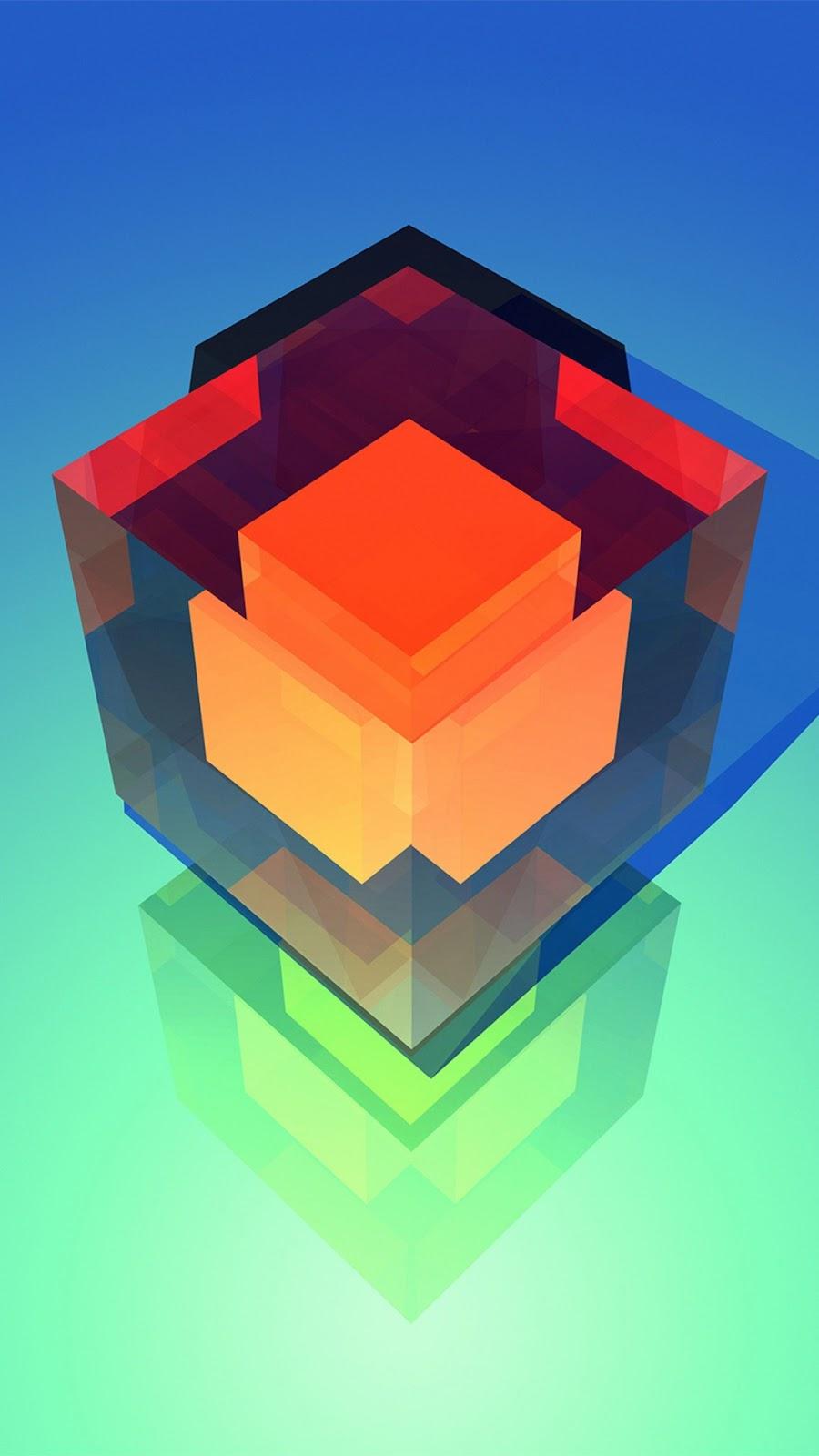 Papel de parede Abstrato Cubos