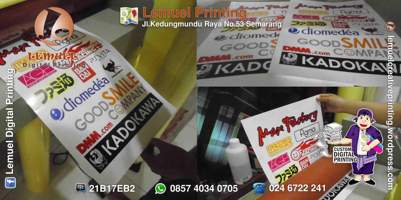Sticker digital apparel digital dan aneka produk kreatif berbasis