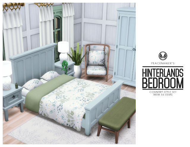 Hinterlands Bedroom - Country Style with 16 Items