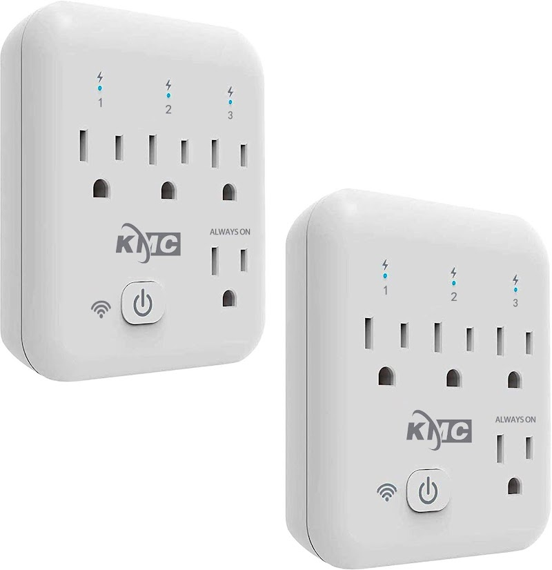 50% OFF Smart plug, KMC 4 Outlet Energy Monitoring Wifi Outlet Compatible with Alexa, 2 PACK