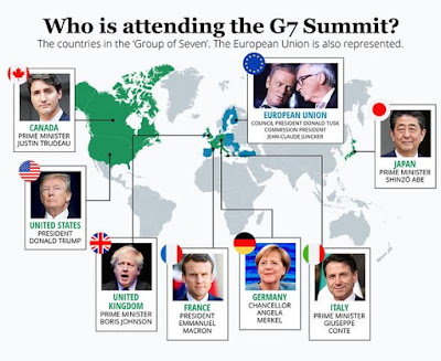 G-7 countries on map