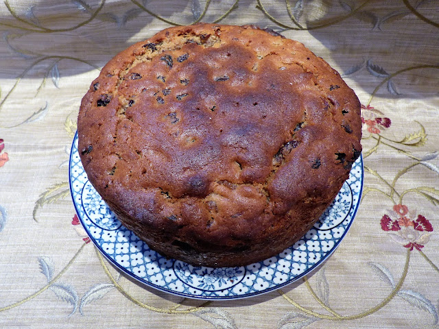 fruit cake made with fruit soaked in tea