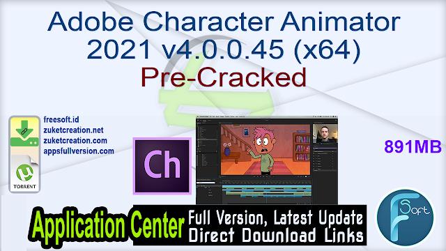 Adobe Character Animator 2021 v4.0.0.45 (x64) Pre-Cracked