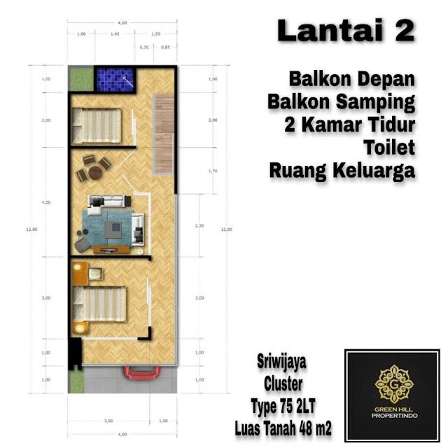 desain lantai 2 sriwijaya cluster