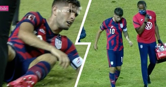 Chelsea star Pulisic forced off field during USA's game due to 'slight ankle injury'