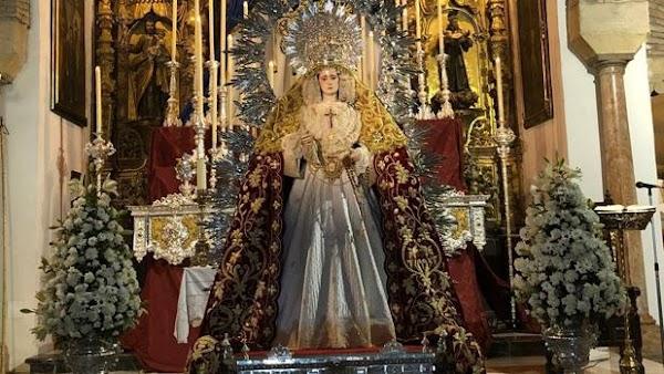 Los primeros cultos a la Virgen del Rayo de Córdoba con el decreto de absorción hecho realidad