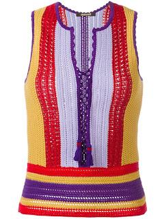 Multi color crochet top