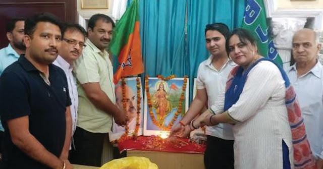 bjp-celebrate-foundation-day-in-sarai-khawaja-faridabad