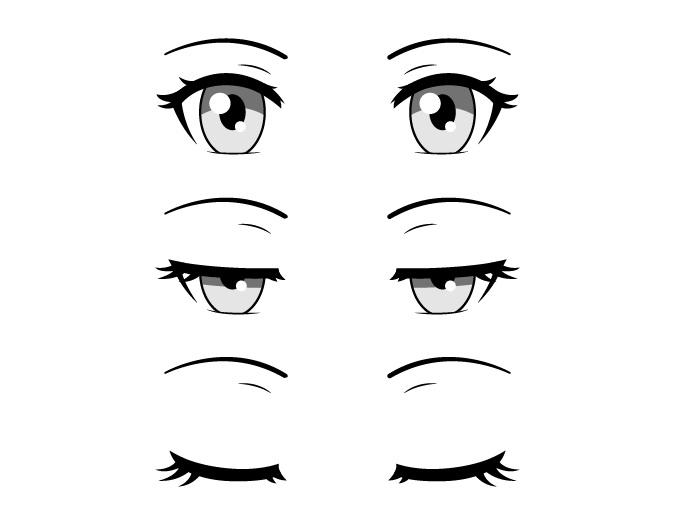 Mata anime tertutup