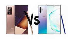 Comparaison entre Samsung Note 20 et Note 10