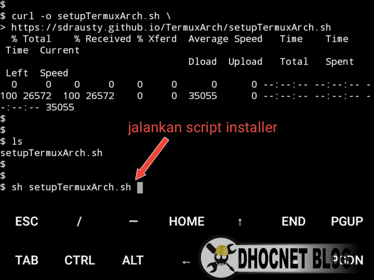 Install Arch Linux di Android Tanpa root