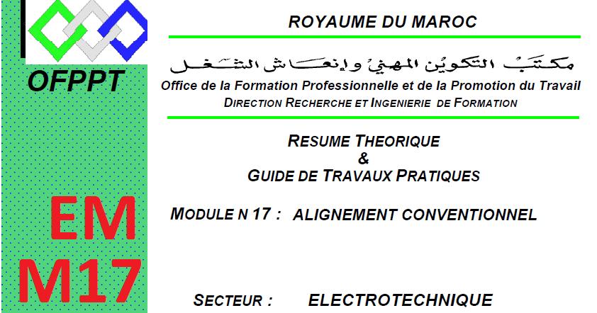 ALIGNEMENT TÉLÉCHARGER PDF 16 MODULE CONVENTIONNEL