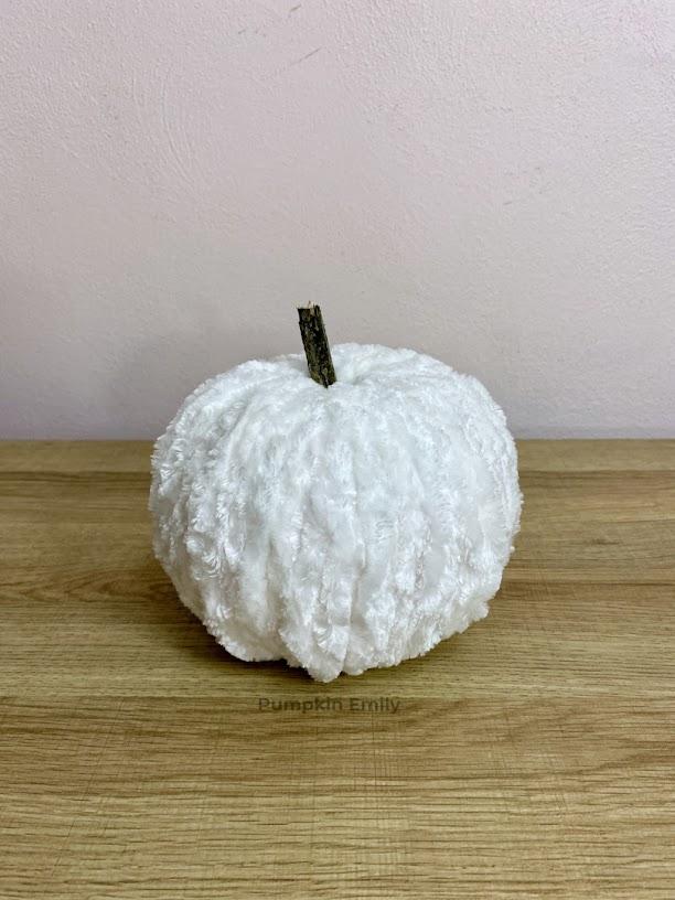White Yarn Pumpkin