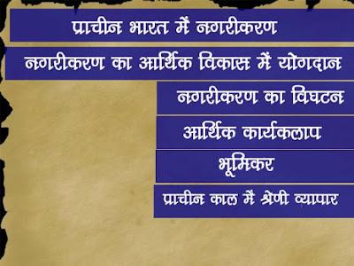 प्राचीन भारत का इतिहास : नगरीकरण का आर्थिक विकास में योगदान | Urbanization's Contribution in Economic Growth