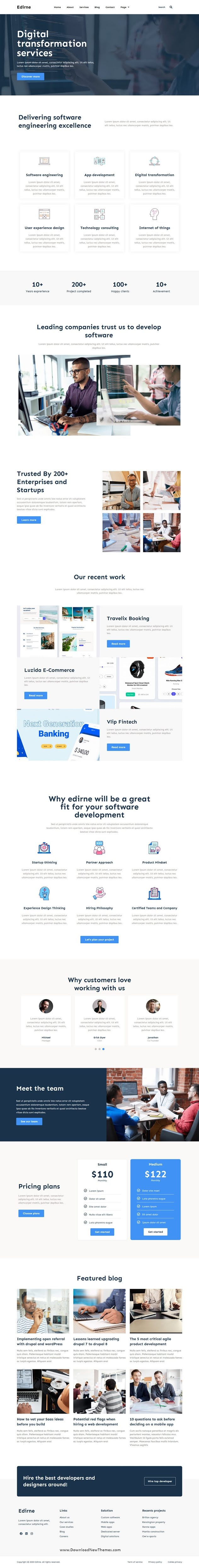 Digital Services Elementor Template Kit