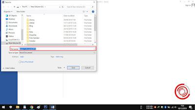 3. Jika hanya ingin merubah nama file nya saja, silakan ubah nama filenya pada kolom File Name, jika sudah klik Save