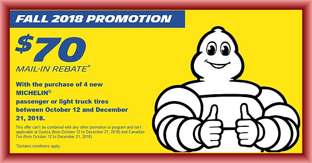 Michelin Tire Rebate And Coupons January 2019