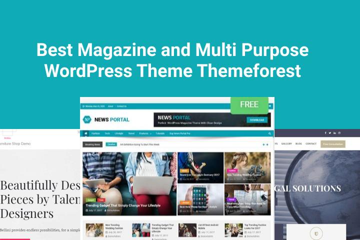 Best Magazine and Multi Purpose WordPress Theme Themeforest