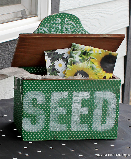 Stencil a Flower Seed Box