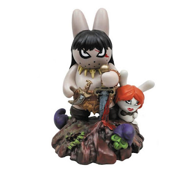 "Frank Frazetta's Labbit the Barbarian 10"" Vinyl Figure by Frank Kozik x Kidrobot"