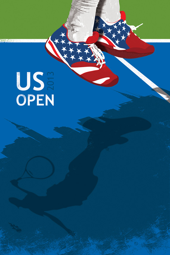 2013 US Open conmemorative poster, graphic design inspiration