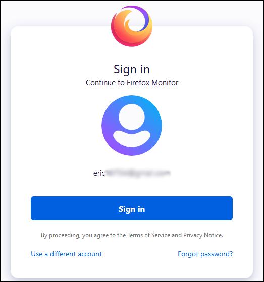 تسجيل الدخول بحساب Firefox