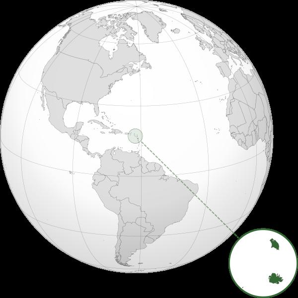 Letak negara Antigua dan Barbuda