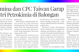 Pertamina and Taiwan's CPC work on the Petrochemical Industry in Balongan