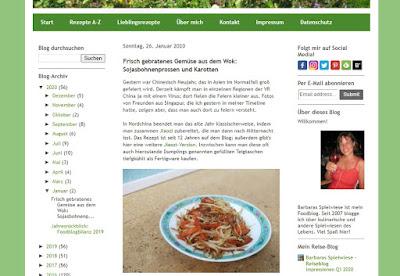 Meistgeklicktes Rezept 2020: Sojasbohnenprossen und Karotten aus dem Wok