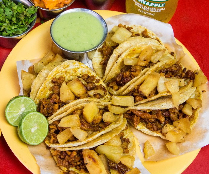 Cilantro Lime Sauce and Tacos