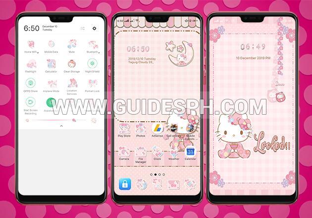 Oppo Theme: Hello Kitty Japanese Theme