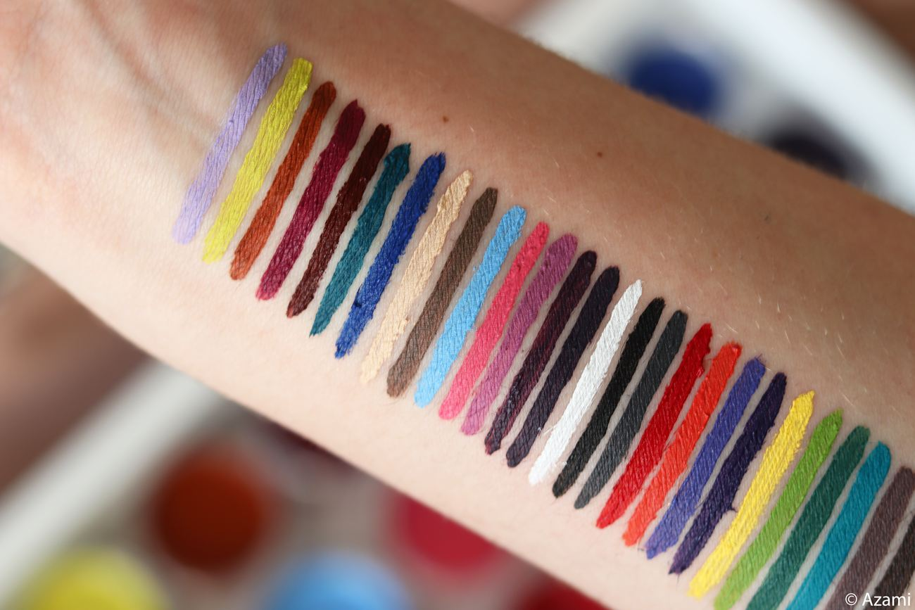 Inglot Cosmetics AMC Gel Liners Eyeliners 27 Shades Swatches and Review - London Beauty Blogger The Burn Out Brand It's Azami Waterproof