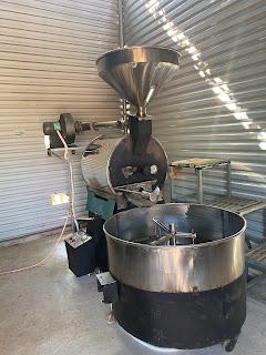 Thanh lí: Máy rang cà phê 25kg 1 mẻ